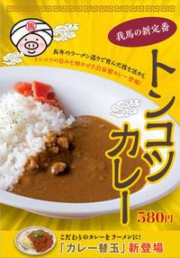 ★新定番★トンコツカレー・カレー替玉登場! - 博多ラーメン我馬