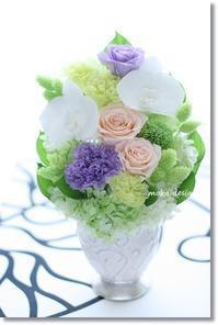 胡蝶蘭の仏花 - Flower letters