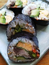 しめ鯖の巻き寿司と行方不明の海苔(^_^;) - ちゃたろうとゆきまま日記