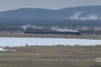雪のシラルトロ沼に白煙とぶ - 2018年・釧網線 - - ねこの撮った汽車