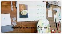 背景の葉っぱ☆ - Italian styleの磁器絵付け