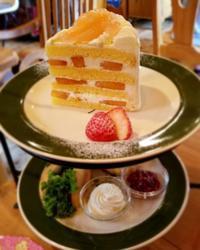 ラ・テイエのアフタヌーンティー * 桃のショートケーキに一目ぼれ! - ぴきょログ~軽井沢でぐーたら生活~