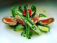 無花果の黒豚巻と夏野菜達の揚げだしは美味しいよねの作り方(レシピ) - わっぜ美味しい鹿児島としかぷーレシピ