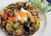 ■簡単!!5分で美味しい♪【夏野菜とツナ缶の巣ごもり】 - 「料理と趣味の部屋」