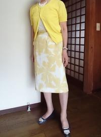 8月10日、70代。若い時の黄色いブラウススーツでコーディネートをする - 楽しく元気に暮らします