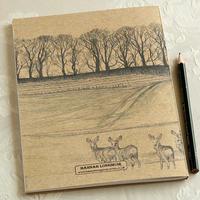 気軽にスケッチ、メモやノートにもおすすめの「しかのスケッチブック」イギリス製 - ブルーベルの森-ブログ-英国のハンドメイド陶器と雑貨の通販
