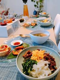 我が家の韓国料理教室焼かないピビンパックラス始まりました - 今日も食べようキムチっ子クラブ (料理研究家 結城奈佳の韓国料理教室)