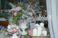 2018.8.10 エステティックサロン装飾のお花/プリザーブドフラワー - Ro:zic die  floristin