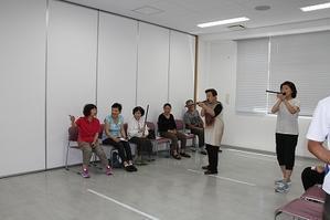 戸板いきいき健康教室(30年度③)ニュースポーツ「フリーブロー」 - 金沢市戸板公民館ブログ