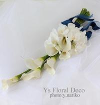 カラーと胡蝶蘭のアームブーケ  & 夏季休業のお知らせ - Ys Floral Deco Blog