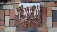 籠編み教室 8月 - 古布や麻の葉