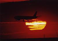 日の出と飛行機 - 羽田フォトクラブ水曜会