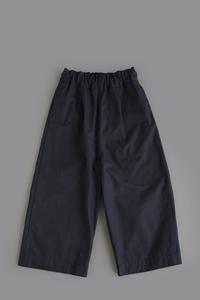 FIRMUM Double Stin Cloth 8/10 Wide Easy Pants (Navy) - un.regard.moderne