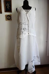 ビンテージ麻ドレス2  Hold(Mor8.13) - スペイン・バルセロナ・アンティーク gyu's shop