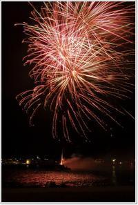 シーパーク船越なつまつりのミニ花火大会(愛南町) - ハチミツの海を渡る風の音