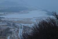 雪原と海が出会うところを気動車が通り過ぎる- 2018年・根室本線 - - ねこの撮った汽車