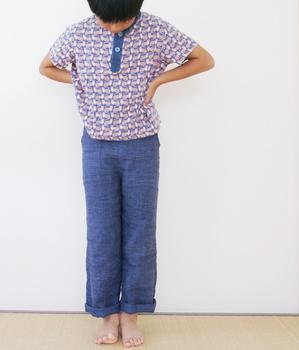 子供服 -長ズボンとデニムスカートリメイク- - yasumin's cafe*