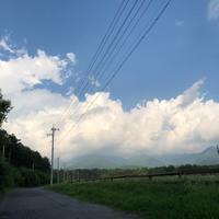 もう完全に夏山、雲も違うし気温もすごい - BLOWIN' IN THE WIND