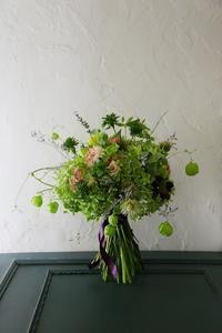 8月の生花レッスンフウセンカズラ - 一会 ウエディングの花
