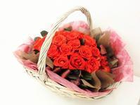 お誕生日で頂いた花束をプリザーブドフラワーに加工いたしました。 - 山梨県プリザーブドフラワー・レインボーローズ専門店『プリザーブドフラワーなないろ』