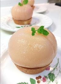 まること桃タルト - 調布の小さな手作りお菓子教室 アトリエタルトタタン