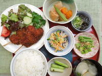 串カツ★(^^♪・・・・・700円ランチ - 日だまりカフェ
