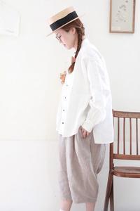 AN Linen/貴族シャツ(ベルギーリネン) - UTOKU Backyard