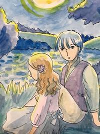 月と花【第5回】*雪雲劇場* - 気軽に始めるイラスト!楽しもう~