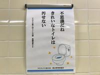 綺麗なトイレは 汚せない - 流れる雲のように
