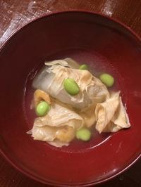 冬瓜と湯葉の煮物 - 来客手帖~ときどき薬膳