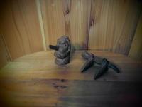 天狗と、イモリのツボ押しだ~~~ぁ - 福島県南会津での山暮らしと制作(陶芸、木工)
