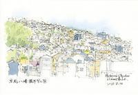 八幡男山の風景 - 風と雲