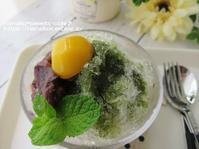 かき氷抹茶小豆 * 朝顔咲いた! - nanako*sweets-cafe♪
