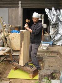 工房の吊り戸 -  彫刻屋 近正