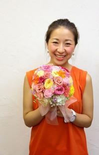 8月15日1dayプリザーブドレッスン 作成レポート 海外挙式ブーケを手作りに - 一会 ウエディングの花
