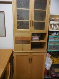 スリムな食器棚の納品 - 手作り家具工房の記録