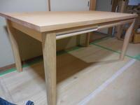 展示ダイニングテーブルをリメイクして - 手作り家具工房の記録