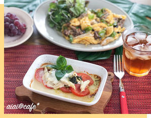 火を使わない!Vol.4 サラダチキンとトマトのチーズ焼き - aiai @cafe