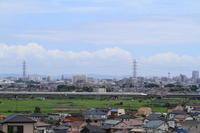 夏の空 - 新幹線の写真