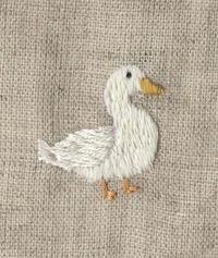 アヒルの刺繍をしました。 - vogelhaus note