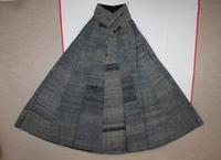 古布木綿紙縒りマント庄内Japanese Antique Textile Koyori-paper Shonai - 京都から古布のご紹介