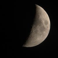 久々に月を見た - ちょこっとした理科の小道具