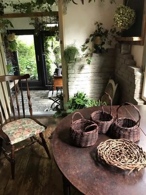 始めての籠編み♪ - 時々の庭・日々の暮らし