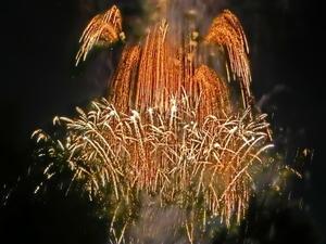 とっても綺麗な色とりどりの花火  (*^_^*) 「第70回猪名川花火大会」 -