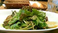 アフタヌーンティールーム『グリーンサラダと大葉のジェノベーゼパスタ』 - My favorite things