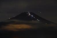 30年8月の富士(18)山中湖の夜の富士 - 富士への散歩道 ~撮影記~