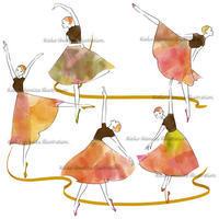色づく秋--オリジナルイラスト - 女性誌を中心に活動するイラストレーター ★★清水利江子の仕事ブログ