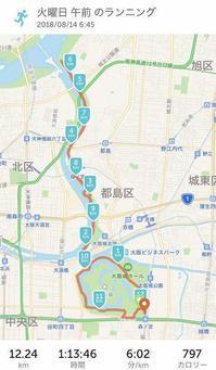 お盆休み早朝ジョギング 2018.8.14 - ちゃーぼー日記