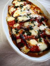 ナスとトマトとモッツァレラチーズのグラタン - Kitchen diary