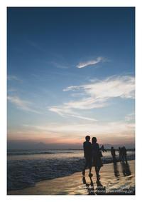 夕暮れ時の海岸 - ♉ mototaurus photography